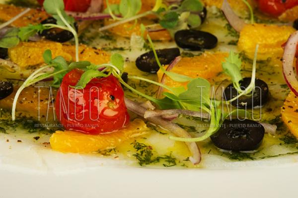 Carpaccio Bacalao Tango Restaurante