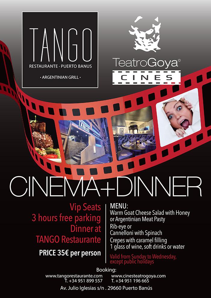Cinema dinner tango restaurante puerto banus argentinian meat restaurant international - Cine goya puerto banus ...
